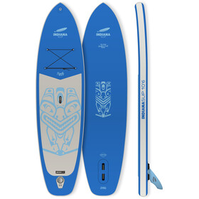 Indiana SUP 10'6 Family Pack with 3-piece Fibre/Composite Paddle, blauw/grijs